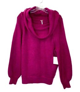 Free-People-Women-s-Large-Purple-Wool-Blend-Echo-Beach-Cowl-Neck-Sweater-128