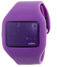 Montre ODM Illumi  Digitale Mixte Purple Violet DD126.5  neuf - Pile à changer
