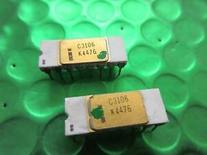 Gold top white Ceramic UK Stock Vintage Intel C3106