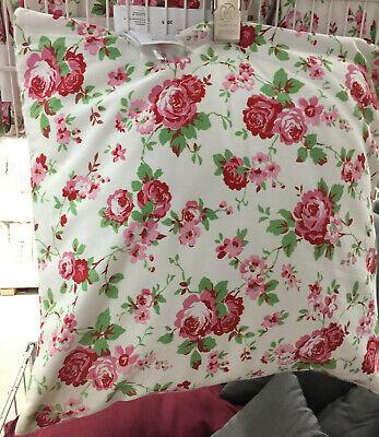 IKEA ROSALI Kissenbezug Weiß 50x50cm Kissenhülle m.Reißversch.BW Kissen Rosen | eBay
