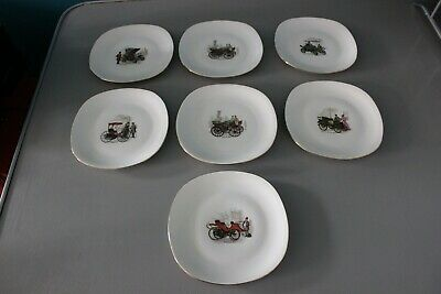 100% De Calidad Lot De 7 Platos De Postre - Genuino Porcelana - Limoges? - Antiguo Soapbox Derby