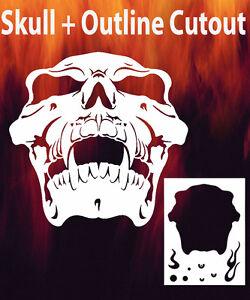 Skull 15 Airbrush Stencil Spray Vision Template air brush