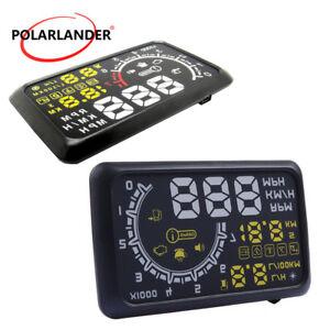 Voiture-HUD-Affichage-Tete-Haute-Bluetooth-5-5-039-039-Compteur-de-Vitesse-Alarme