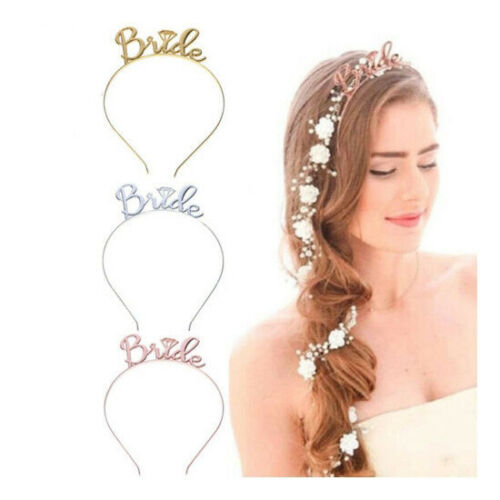Women Bride To Be Tiara Headband Bridal Hen Party Wedding Hair Band Accessories