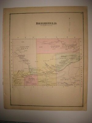 Maps, Atlases & Globes North America Maps Enthusiastic Antique 1875 Deerfield Township Knoxville Tioga County Pennsylvania Handcolr Map Jade White
