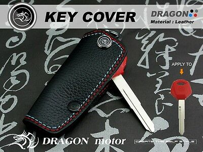 Leather keyfob holder case chain cover FIT For YAMAHA MT-07 TMAX 53 YZF-R6 MKY1F