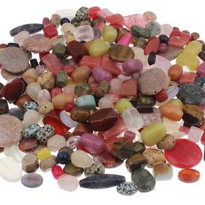 500g-Edelstein-Perlen-Gemischt-Mix-Form-Bunt-Schmucksteine-A-GRADE-Konvolut-G290