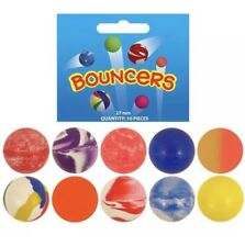 35mm Bouncy Large Jet Balls Bright Bouncers Kids Party Bag Pinata Filler Toys