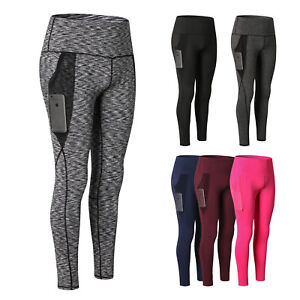 d53991a641 Women's Compression High Waist Out Pocket Yoga Pants Tummy Control ...
