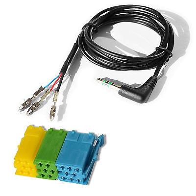 AUX IN Universal KFZ Adapter Set lose 3,5mm Klinke ISO Stecker