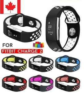 NEW-Soft-Silicone-Adjustable-Replacement-Sport-Strap-Band-For-Fitbit-Charge-2-CA