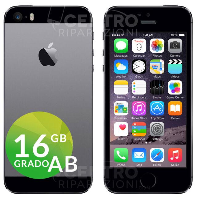 APPLE IPHONE 5S 16GB NERO GRIGIO SIDERALE SPACE GRAY CON ACCESSORI E GARANZIA