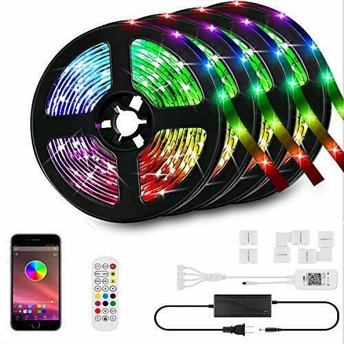 66ft//20M LED Strip Lights Kit,LED Tape Strips,RGB LED Light Strips,Sync to Music