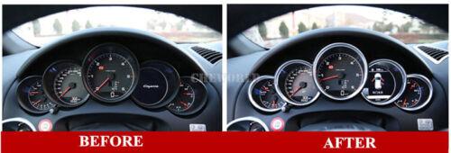 5X Silber Instrumente Tachoscheiben Zierleisten Für Porsche Cayenne 2011-2017