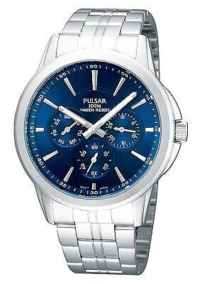 Pulsar Gents Stainless Steel Calendar Watch Pp6011x1-pnp 100% Original Armband- & Taschenuhren
