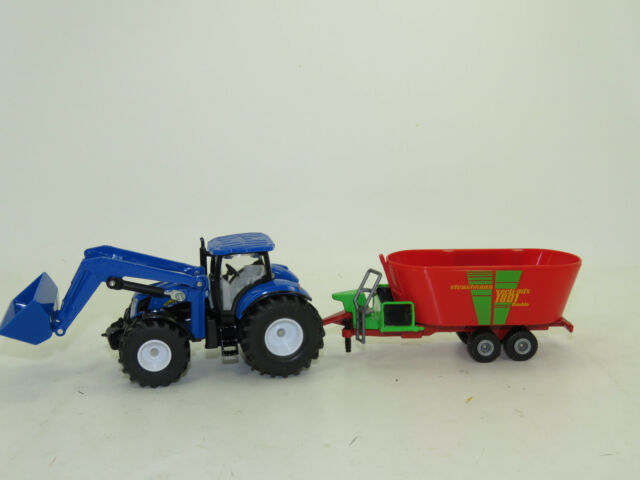 Siku 1988 New Holland with Front Loader and Distribution Trailer 1:50 NEW BOXED