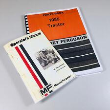 Massey Ferguson Mf 1085 Tractor Operators Manual Parts Catalog