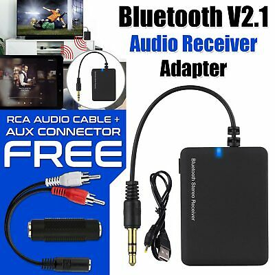 3.5mm Senza Fili Bluetooth Audio Ricevitore Musica Stereo Auto Aux Adattatore Caricabatterie Usb-
