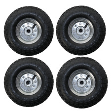 "4 PACK 10"" REPLACEMENT SPARE WHEEL TYRE 4.10 /3.50 - 4 GARDEN TOOL CART SACK"