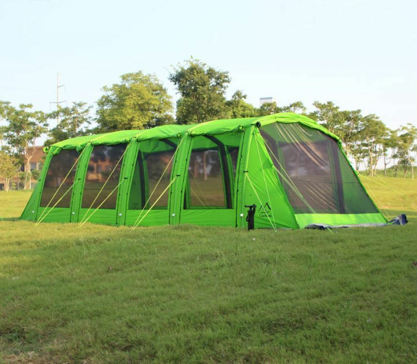 Waterproof 15-25 Person Family Family Family Camping Yard Lawn Beach Tunnel Tent HUGE NEW 582390