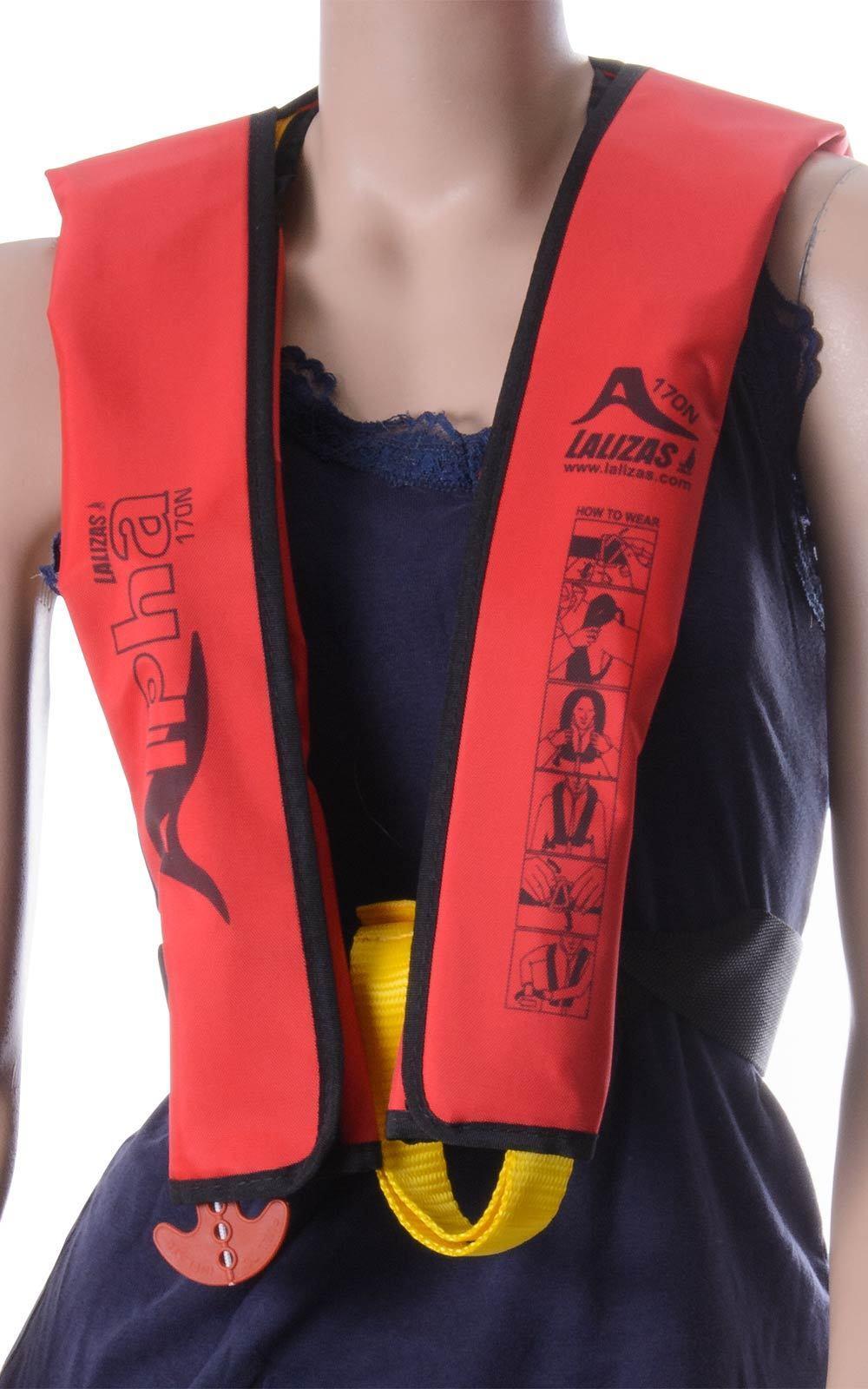 Rettungsweste Lalizas Alpha 170N Kinder manuell & automatisch automatisch & rot 25 - 40 kg 8e19e1