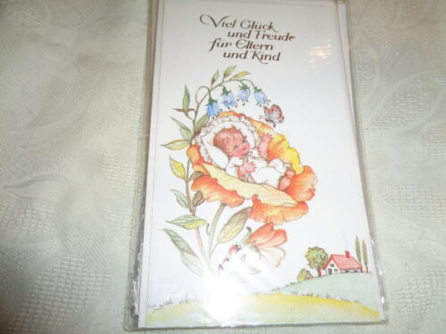 Glückwunschkarte Freudiges Ereignis  Geburt Klappkarte mit Umschlag  OVP NEU
