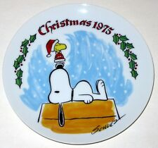 1975 Vintage Snoopy and Woodstock Christmas Collectors Plate