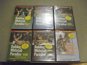 BUILDING-WHITETAIL-PARADISE-VOL-1-2-3-4A-4B-AND-5-DEER-HUNTING-DVD-BRAND-NEW