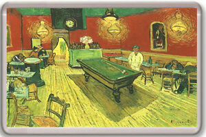 VINCENT VAN GOGH - THE NIGHT CAFE IN THE PLACE LAMARTINE IN ARLES 1888 MAGNET