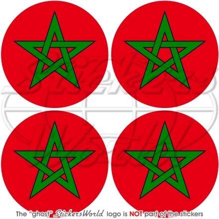 """Casco Sticker x4 MAROCCO Marocchino 50mm//2/"""" Africano Adesivi in Vinile per Auto"""