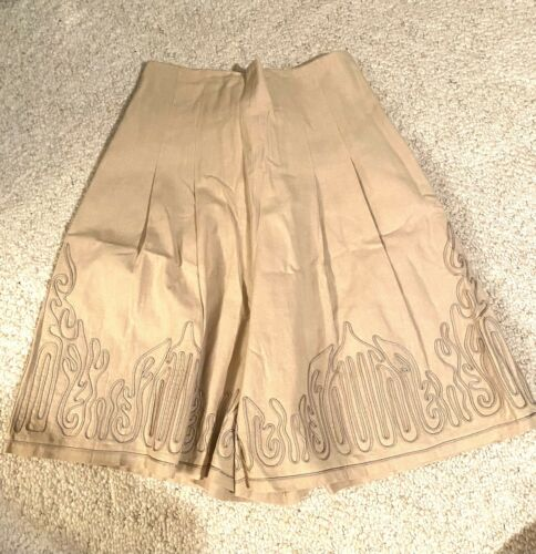 MARIE ST. CLAIRE Vintage Beige PLEATED Skort With… - image 1
