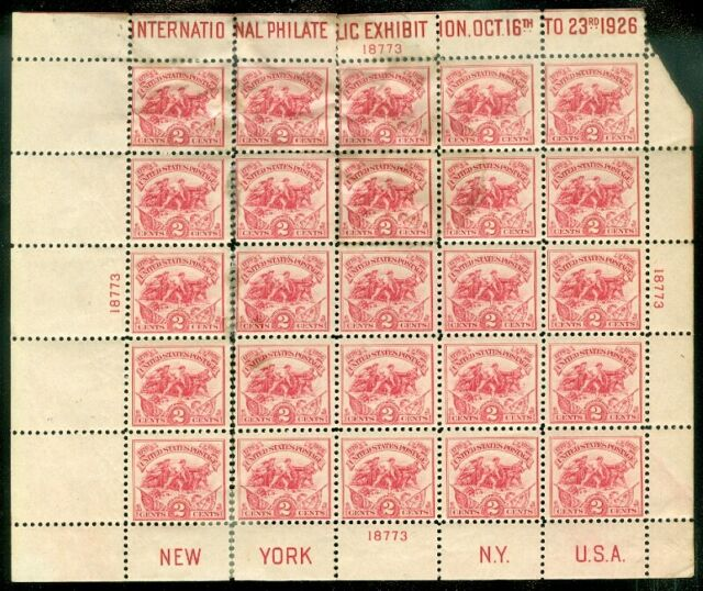 EDW1949SELL : UNITED STATES 1926 Scott #630 Mint but separated & damaged.
