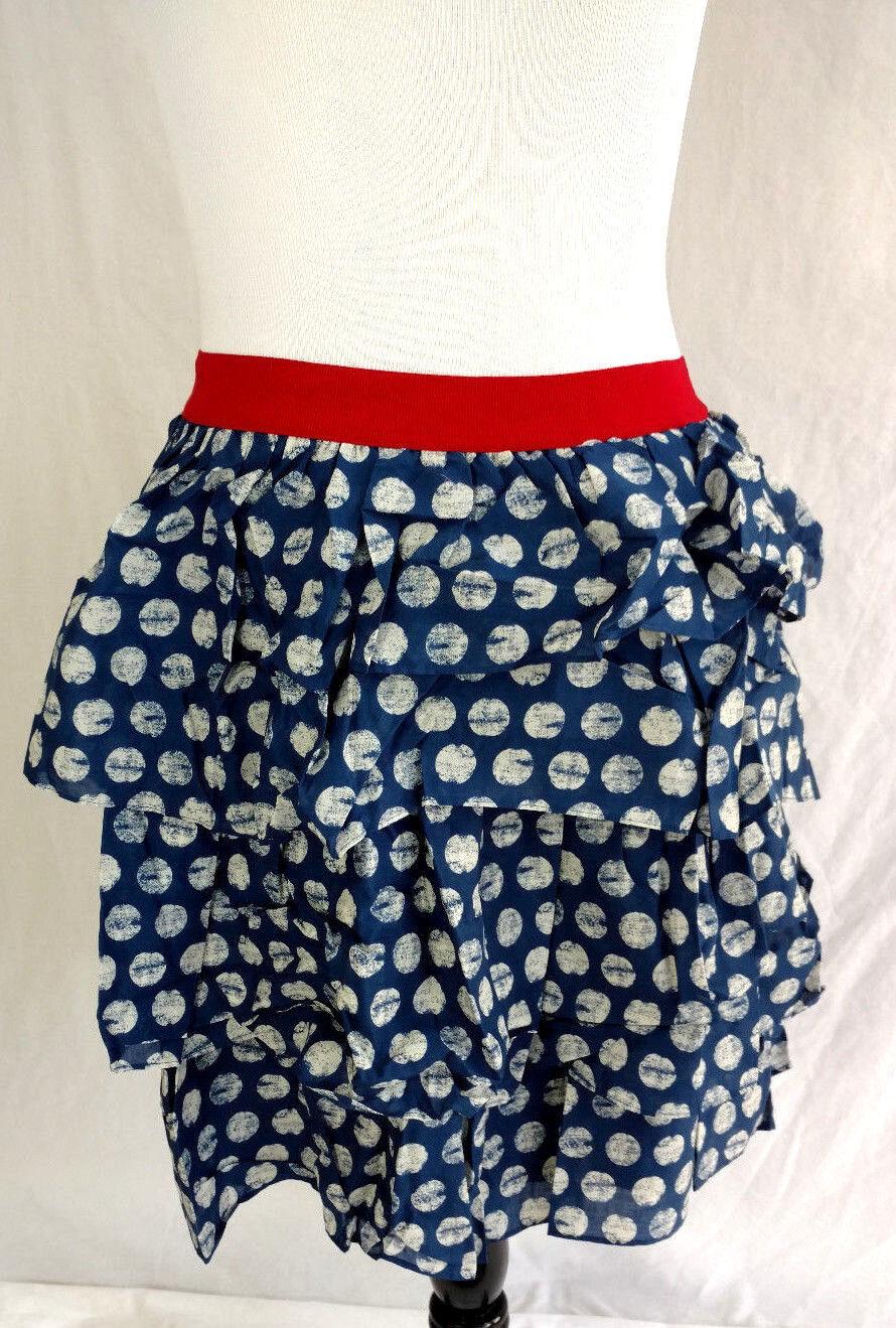 Lane Bryant Skirt Womens Plus Sz 22 24 Red White bluee Polka Dot Ruffle American