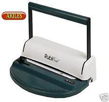 Akiles Rubicoil Coil Binding Machine Amp Punch New Arc L41