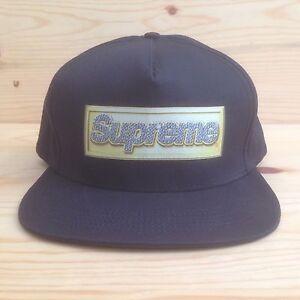 a19b9dcc598 SUPREME BLING BOX LOGO X STARTER SNAPBACK HAT 5 PANEL CAMP CAP ...