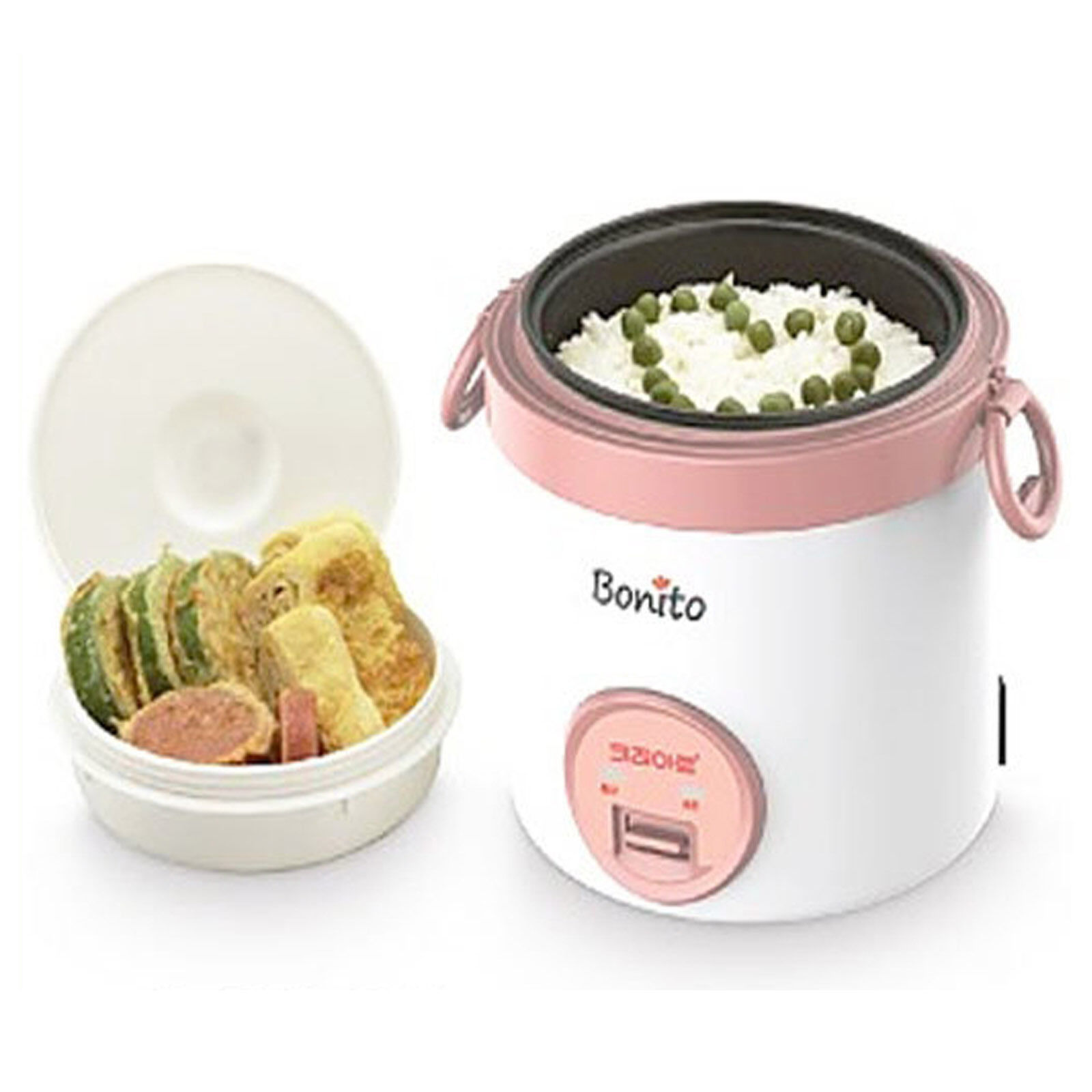 Kitchen Bonito Electric Rice Cooker Portable Handle Lunch Warmer Bento Single