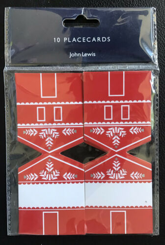 John Lewis Table 10 Placecards Paper Table Decoration Christmas Festive Red