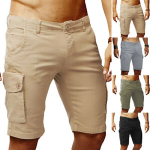 Mens-Shorts-Cargo-Combat-Chino-Gym-Casual-Loose-Fit-Work-Shorts-Multi-Pockets