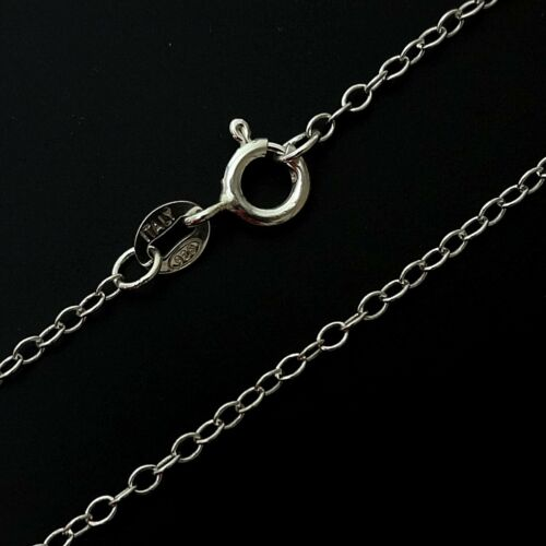 """.925 Sterling Silver Necklace Chain 16/"""" 18/"""" Curb Trace Snake Bead Chains Finding"""