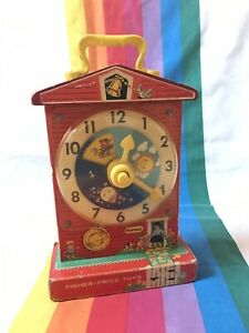 Vintage-Fisher-Price-1968-Teaching-Clock