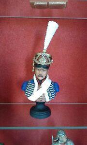 Buste Peint 1/10 : Hussard Premier Empire Le Cimier