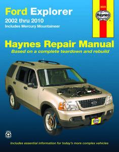 2002 2010 ford explorer mercury mountaineer repair service workshop rh ebay com 2006 Mercury Mountaineer Problems 2006 Lincoln Mark Lt Owners Manual