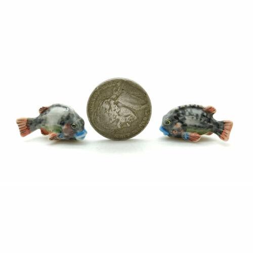 CQM004 Fish Lumpfish Ceramic Figurine Animal Family Miniature Statue
