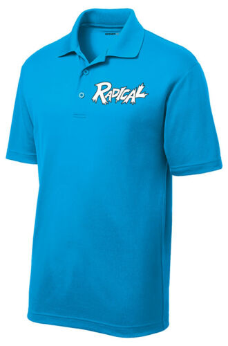 Radical Men/'s Dragon Performance Polo Bowling Shirt Dri-Fit Pond Blue