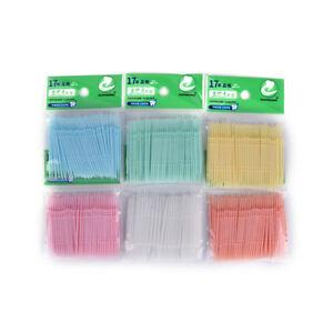 100Pcs-Desechables-Doble-uso-Palillo-de-plastico-Interdental-Oral-Limpia-ws