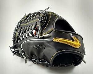Nike-SHA-DO-Elite-J-Size-12-25-Black-Gold-Baseball-Glove-New-Left-Hand-Throw