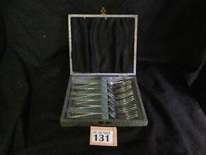 Set-Of-6-Silver-Plated-Cake-Forks-Fork-EPNS-vintage-In-Original-Box