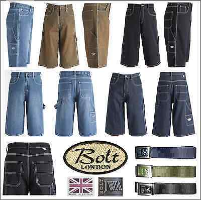 "Bleubolt Negro 20 /""Hem Calamar Carpintero Loose Fit pantalones tamaño grande holgados Jeans"