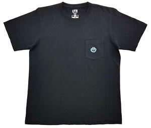 Kaws-Uniqlo-Cookie-Monster-Seame-Street-Pocket-Tee-Black-Size-M-Unisex-T-Shirt