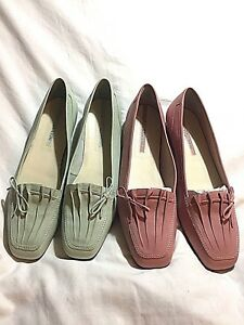 Enzo-Angiolini-Lauralee-Leather-Flats-Loafers-Slip-On-Shoes-You-Pick-USED